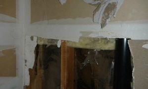 Water Damage Restoration Conducted On Drywall