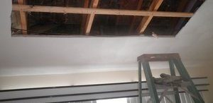 Ceiling Repair In Progress After A Fire